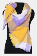 17с128-ШР/039 Платок женский 110*110 1 желтый