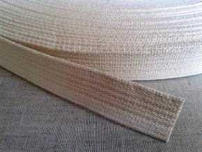 22мм. 9С753-Г50 (рис.1961) ЛЕНТА ВЕРЕТЕННАЯ (Хл-100%) белый (суровый) 22мм (рул.50м)