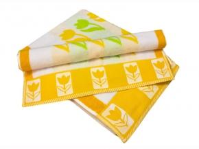 """10с59 полотенце махровое 70*140 """"Тюльпан"""" цвет салатовый"""