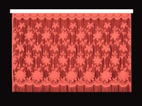 22С13-Г10 рис.2063 занавеска 165*250 цвет красный
