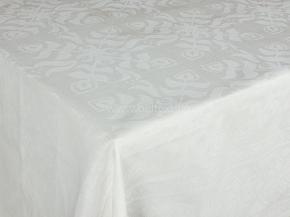 """10с23 ЯК Скатерть 145*300 """"Зимние каникулы"""" цв. белый"""