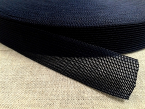 Тесьма вязан.окантовочная 22мм (2,4гр/м), т.синий (рул.100м)