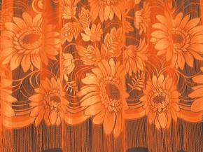 22С14-Г10 рис. 3018 занавеска 250*250 цв. оранжевый