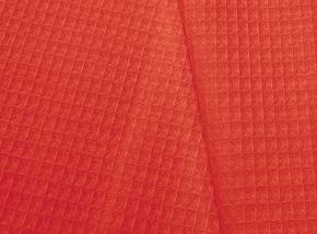 15с169/150 Вафельное полотно гл/кр крупная клетка 7*7 вес-230г/м2~9 коралл, ширина 150см