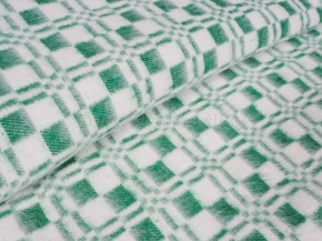 Одеяло хлопковое ОБ-420 140*205 клетка цв. зеленый