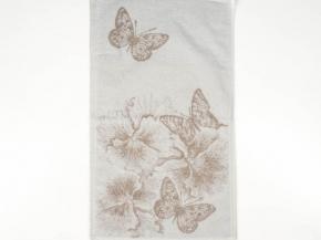 6с104.511ж2 Бабочки и цветы Полотенце махровое 67х40см Лен+х/б