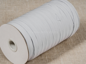 .8мм. Резинка ткацкая 8мм, белый (рул.100м) Тип F