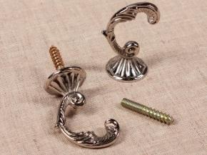 Крючок Веточка-07 матовое серебро