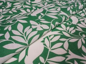 Ткань бельевая арт 175014п/л отб.наб 150 см рис 55-17/2 Птицы зеленые