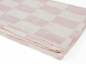 Одеяло байковое 140*212  клетка цв. сирень