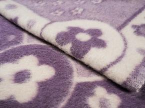 Одеяло п/шерсть 85% 100*140 жаккард цвет сирень