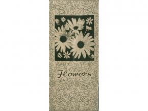 6с102.411ж1 Flowers Ромашки Полотенце махровое 67х150см