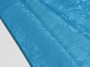 """0/411Скатерть """"Шелкография"""" на тканевой основе 220*135 цвет голубой"""