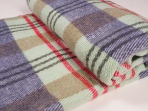 Одеяло п/шерсть 50% 140*200 Клетка
