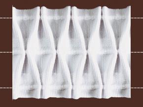 16С3914-Г50 ЛЕНТА ДЛЯ ШТОР белый 56мм, вафельная сборка 1:2,3 (рул.50м)