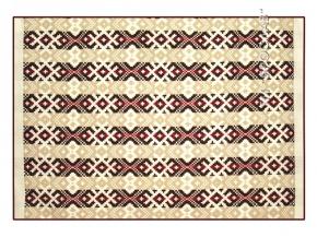 Одеяло п/шерсть 70% 170*205 жаккард цвет бежево-бордовый