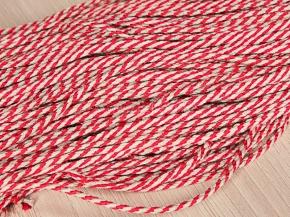 3,5мм. 05С2272Н-Г50 ШНУР ОТДЕЛОЧНЫЙ лен с красным 3,5мм (рул.100м)