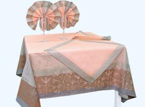 """17с240-ШР/уп. 155х150 Комплект столовый """"Травы"""" 1 розовый"""