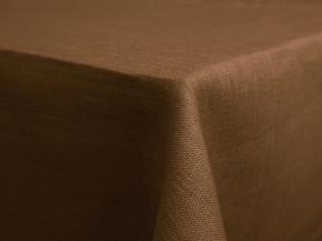 12С204-ШР Скатерть 100% лен 510 цв.какао 143*250 см.