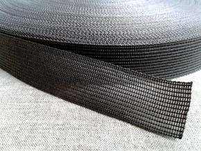 Тесьма вязан.окантовочная 22мм (2,4гр/м), серый (рул.100м)