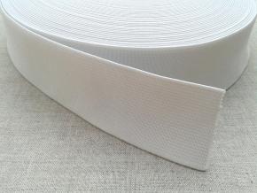 Резинка вязаная 40мм, белая (рул.50м)
