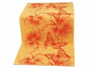 """6с102.411ж1 """"Бабочки и цветы"""" Полотенце махровое 67х150см"""