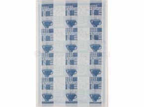 """17С317-ШР 48*70 полотенце """"Кофе"""" цв. 42 синий с голубым"""