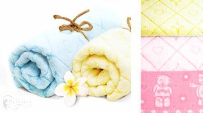 """10с37 полотенце махровое 50*90 """"Мишки"""" цвет розовый"""
