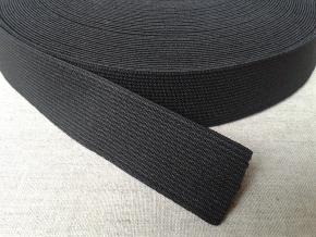 25мм. Резинка ткацкая 25мм, черная (рул.20м)