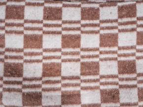 Одеяло хлопковое 170*205 клетка Колосок цв. коричневый