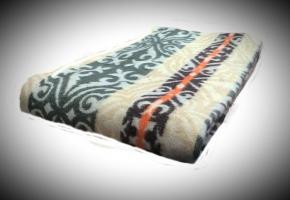 Одеяло хлопковое Эконом 140*205 жаккард 18.31 цвет бежево-зеленый