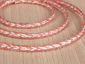 .5мм. 60201 ТЕСЬМА ОТДЕЛОЧНАЯ розовый с белым 5мм (рул.30м)