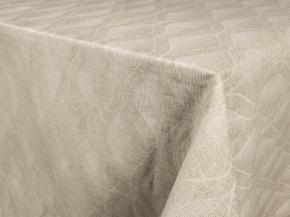 Ткань скатертная арт 181049 п/л пестр апретт каландр 190см рис 1*1150/3 Волны натуральный