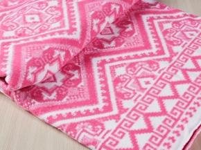 Одеяло байковое 200*205 жаккард цв. розовый