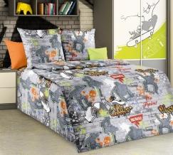 1100 КПБ 1.5 спальный Стрит-арт