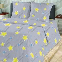 Бязь-универсал П13 (0688/2) Звезды серый, ширина 220см