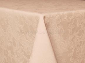 "Ткань скатертная арт.14С7SHT ""Мирелла"" рис.004 цвет 141119 бежевый, ширина 310 см"