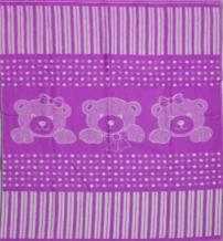 Одеяло хлопковое 90*100 жаккард 19/3 цвет сиреневый