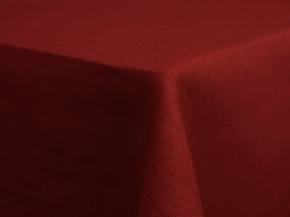 18С63-ШР Скатерть 100% лен 511 цв. бордо 144*250