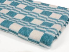 Одеяло хлопковое 100*140 клетка  цв.голубой