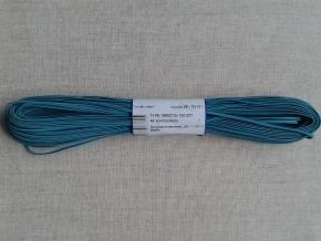 1С14-Г50 ШНУР ОТДЕЛОЧНЫЙ (сутаж) бирюзовый*025, d-2.5мм (рул.20м)