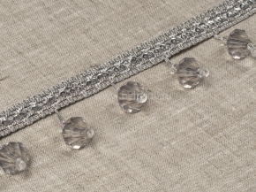 Бахрома Ajur HK AT917CY-13263 (25m) св.серый с бусинами