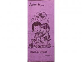 6с102.411ж1 Love is Полотенце махровое 67х150см