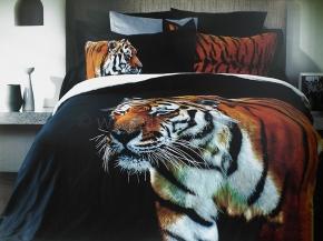 """4430-БЧ/кор.D-26 комплект 2 спальный сатин жаккард """"Тигр"""""""