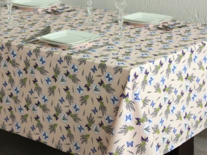 1739-БЧ (1076) Ткань х/б для столового белья набивная рис. 4491-01 Лаванда, ширина 150см