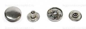 Кнопка-пружина ALFA 15мм, никель (уп.720шт)