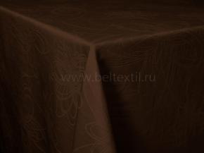 """Ткань скатертная арт.14С7SHT """"Мирелла"""" рис.003 цвет 191020 темный шоколад,ширина 310 см"""