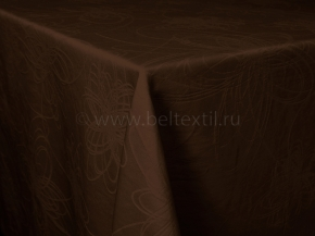 "Ткань скатертная арт.14С7SHT ""Мирелла"" рис.003 цвет 191020 шоколад,ширина 310 см"