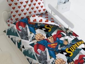 """КПБ 1.5 поплин (70*70) """"Супермен"""" Супермен"""
