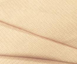 Ткань х/б вафельная гладкокрашеная цвет 0201/1- Бежевый, ширина 150 см